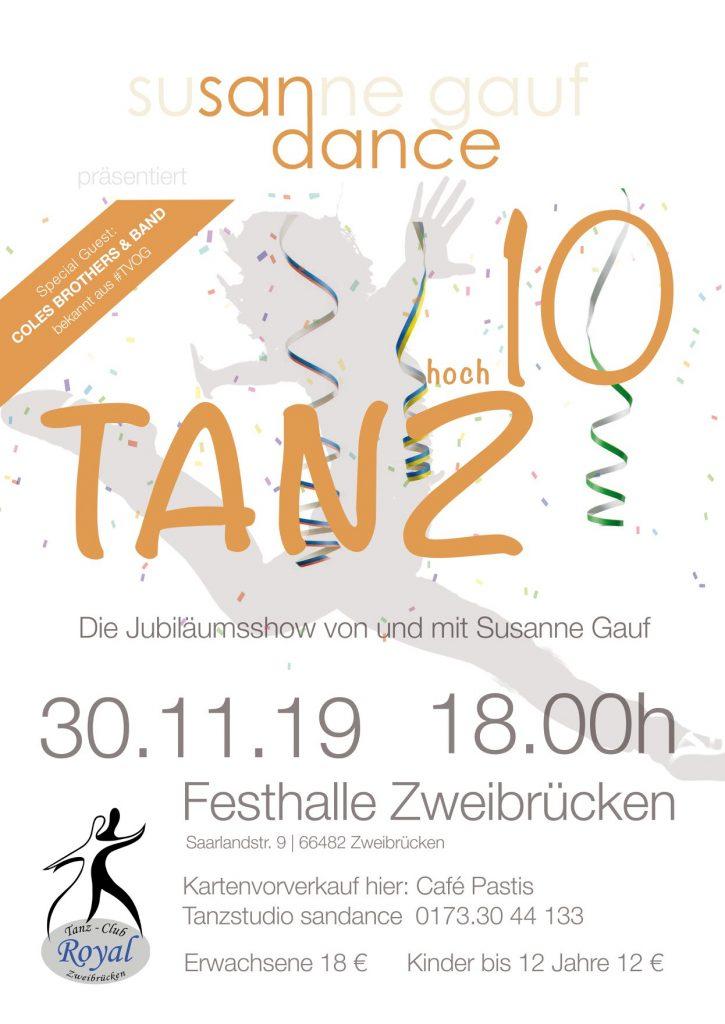 Jubiläumstanzshow Sandance - Zweibrücken Festhalle